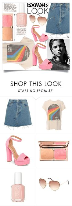 """""""Pink Floyd"""" by freeunderwater ❤ liked on Polyvore featuring RE/DONE, MadeWorn, Chinese Laundry, Essie and Full Tilt"""