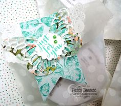I had the best time making these pretty little gift bags with the Stampin' UP! Fluttering Embossing Folder, and I thought I would share this quick and easy technique with you!  I have a VIDEO tutori