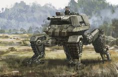 Dust) Quadvee) Axis-Allies project) Infantry Support Walker) lighter than Buldog with Pw IV turret lowVelocity cannon Robot Concept Art, Weapon Concept Art, Robot Militar, Cuadros Star Wars, Future Weapons, Sci Fi Characters, Futuristic Cars, Fantasy, Military Art