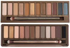 Urban Decay Naked vs Naked 2 Palette: Naked - comes with a primer, sm. mirror and a one sided shadow brush - packaging isn't as gorgeous as Naked 2 but weighs lighter. The shadows complement warm skin tone.....Naked 2 comes with a lipgloss, two-sided brush and a larger mirror. Packaging is def better. Naked 2 have more shimmery shadows and is most flattering to cool skin tone.