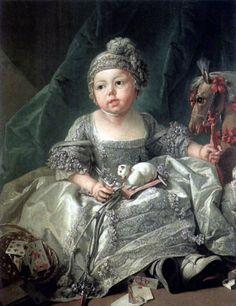 François Boucher - Portrait of Louis Philippe of Orléans as a child (c. 1750).  Art Experience NYC  www.artexperiencenyc.com/social_login/?utm_source=pinterest_medium=pins_content=pinterest_pins_campaign=pinterest_initial