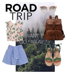 Road trip by marhay-ini on Polyvore featuring polyvore fashion style MANGO WithChic Yves Saint Laurent clothing
