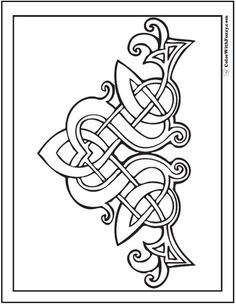 Fuzzy's Celtic Designs: Patrick Celtic Coloring