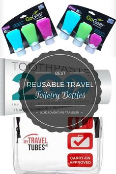 These are the best reusable travel size toiletry bottles that you can just refill with your own favorite products right from home.