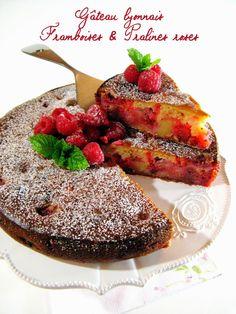 Gâteau lyonnais nouvelle version: framboises & pralines roses