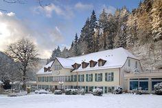 Das Waldhotel im Winter, Waldhotel Bad Sulzburg, Schwarzwald (Black Forest), Germany