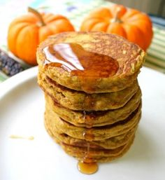 Paleo Pumpkin Pancakes - almond flour version is REALLY good!!!!!