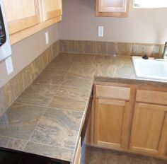 Kitchen makeover final reveal part one pinterest life kitchen tile countertop tiled kitchen countertopskitchen tilesdiy solutioingenieria Choice Image