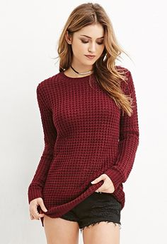 Loose Knit Longline Sweater | $16.00 Forever 21 - IN THE TAN COLOR, SIZE SMALL. To replace my fave sweater that just came back from the laundromat with pink on the sleeve :(