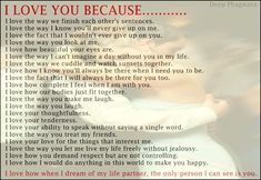 I Love You Because Sayings | This picture was submitted by deep phagwara.