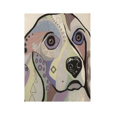 BEAGLE in DENIM Colors Wood Poster - dog puppy dogs doggy pup hound love pet best friend