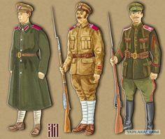 Armia Kołczaka: 1.Szeregowy 3 Symbirskiej Dywizji Piechoty 2.Podoficer 1 Samarskiej Dywizji Piechoty 3.Szeregowy 1 Wołżańskiego Pułku Piechoty, Dywizji generała Kappela