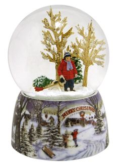 A Boy and His Dog snow globe from snowdomes.com