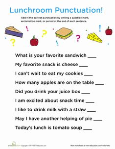 Printables Punctuation Worksheets For 2nd Grade 2nd grade punctuation worksheets versaldobip end exclamations articles and second grade
