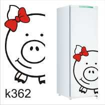Adesivo K362 Adesivo Porquinha De Geladeira Porquinha Porca