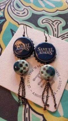 I made these beer bottle cap earrings today. Pretty easy snd would be a great gift for fellow beer lovers.
