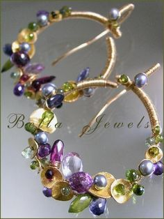 A fifteen year signature original design: Voluptuous Rings...Amethyst Iolite Sapphire by bellajewels on Etsy, 278.00