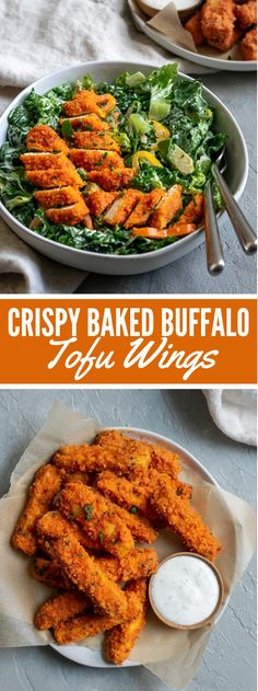 CRISPY BAKED BUFFALO TOFU WINGS Hot, tasty, and liberal tasting these firm prepared bison tofu wings make the ideal tidbit for your next gathering and are astounding on a serving o… Firm Tofu Recipes, Veggie Recipes, Whole Food Recipes, Cooking Recipes, Healthy Recipes, Tofu Dinner Recipes, Tofu Meals, Recipes With Tofu, Cooking Tips