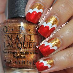 Red & Gold 49er Nails