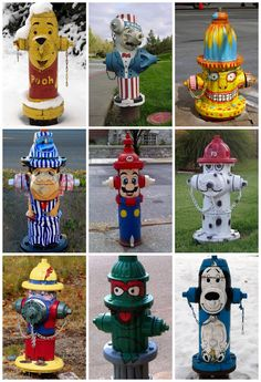 25 funny Fire Hydrants #Art, #FireHydrant, #Painting