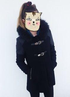 Kup mój przedmiot na #vintedpl http://www.vinted.pl/damska-odziez/plaszcze/15867990-hit-czarny-plaszcz-z-kapturem-i-futerkiem-rozmiar-s