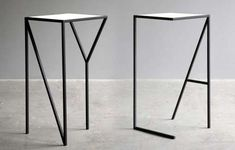 LA & NY tall table by Faktura Design Metal Furniture, Table Furniture, Home Furniture, Furniture Design, Tall Table, Deco Design, Design Design, Home And Deco, Minimalist Home