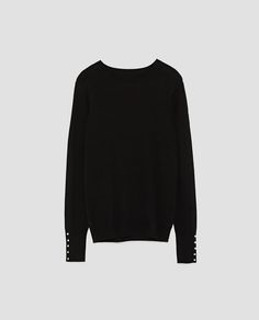 Image 8 of SWEATER WITH PEARLY CUFFS from Zara