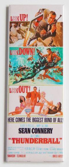 Thunderball FRIDGE MAGNET insert movie poster james bond 007