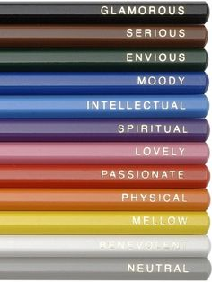 Pencils.  This is fun.  Do these colors describe you...which are your faves?