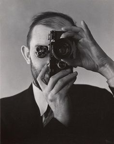 Ansel Adams with a Contex Cameta. Photo by Edward Weston.