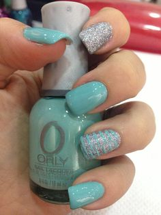 trendy nails design green aqua nails is part of Cute nails Long Hairdos - Cute nails Long Hairdos Turquoise Acrylic Nails, Turqoise Nails, Silver Nails, Cute Acrylic Nails, Acrylic Nail Designs, Blue Nail, Teal Nail Designs, Teal Nail Art, Nail Polish Designs