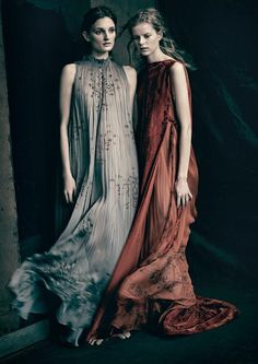 Vogue Italia March 2016 - Julia Fleming, Kadri Vahersalu - Paolo Roversi