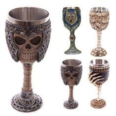 Creative Wine Cup 3D Finger Bones Shape Resin Stainless Steel Goblet Coffee Tea Cup
