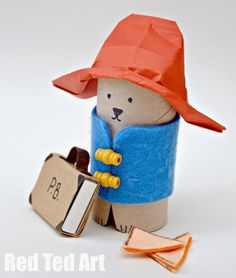 Toilet roll Paddington by Red Ted Art