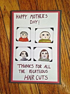 Funny Mother's Day Cards: Bad haircuts
