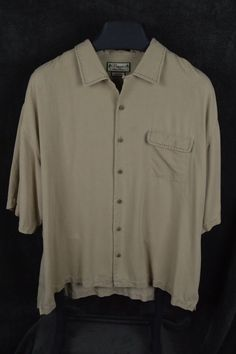 #Pusser's #Island #Reserve #mens #XL #Khaki #silk #camp #shirt #boldstitching  #PussersIslandReserve #Hawaiian