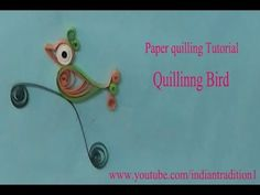 making bird by using quilling paper made easy