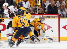 Keith's game-winner 04/15/2015 LET THE PLAYOFFS BEGIN! Hawks beat Nashville 4-3 in 2OT to go up 1-0 in the series