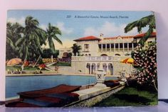 Florida FL Miami Beach Estate Postcard Old Vintage Card View Standard Souvenir
