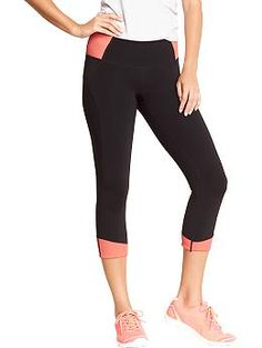 Cute workout gear from Old Navy! Women's Old Navy Active Rib-Knit Compression Capris | Old Navy