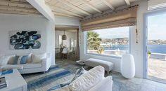 Decoración de estilo mediterráneo: salones con vistas al mar