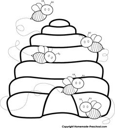 Bee Coloring Pages, Bee Clipart, Bee Embroidery, Bee Cards, Cute Bee, Diy Arts And Crafts, Quilt Blocks, Quilt Patterns, Applique