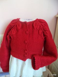 coser es fácil...: chaquetita low cost Knitting For Kids, Lana, Pullover, Sweaters, Diy, Fashion, Tricot Crochet, Dressmaking, Sweater Vests