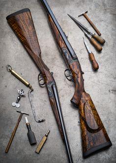 "www.pinterest.com/1895gunner/   500 3"" Double Rifle and 28g Shotgun, both Detachable Lock."