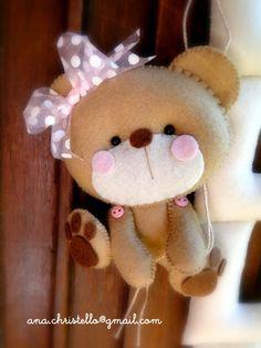 : Nome em feltro - porta de maternidade - Manuella