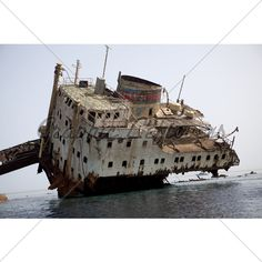 Ships anchored in the eternal ... Sunken and Obsolete ships ...