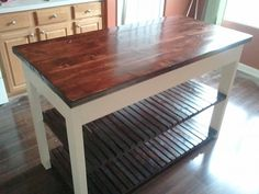 Kitchen Island cart by GriffDecor on Etsy