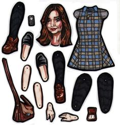 The Full Clara paper doll parts. by MadunTwoSwords on DeviantArt