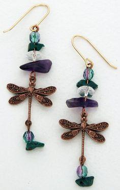dragonfly earrings Drop Earrings, Jewelry, Jewellery Making, Jewels, Jewlery, Jewerly, Jewelery, Jewel, Chandelier Earrings