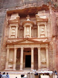 Petra, Jordan - They carved this out of the mountain,.... I really need to see that!!